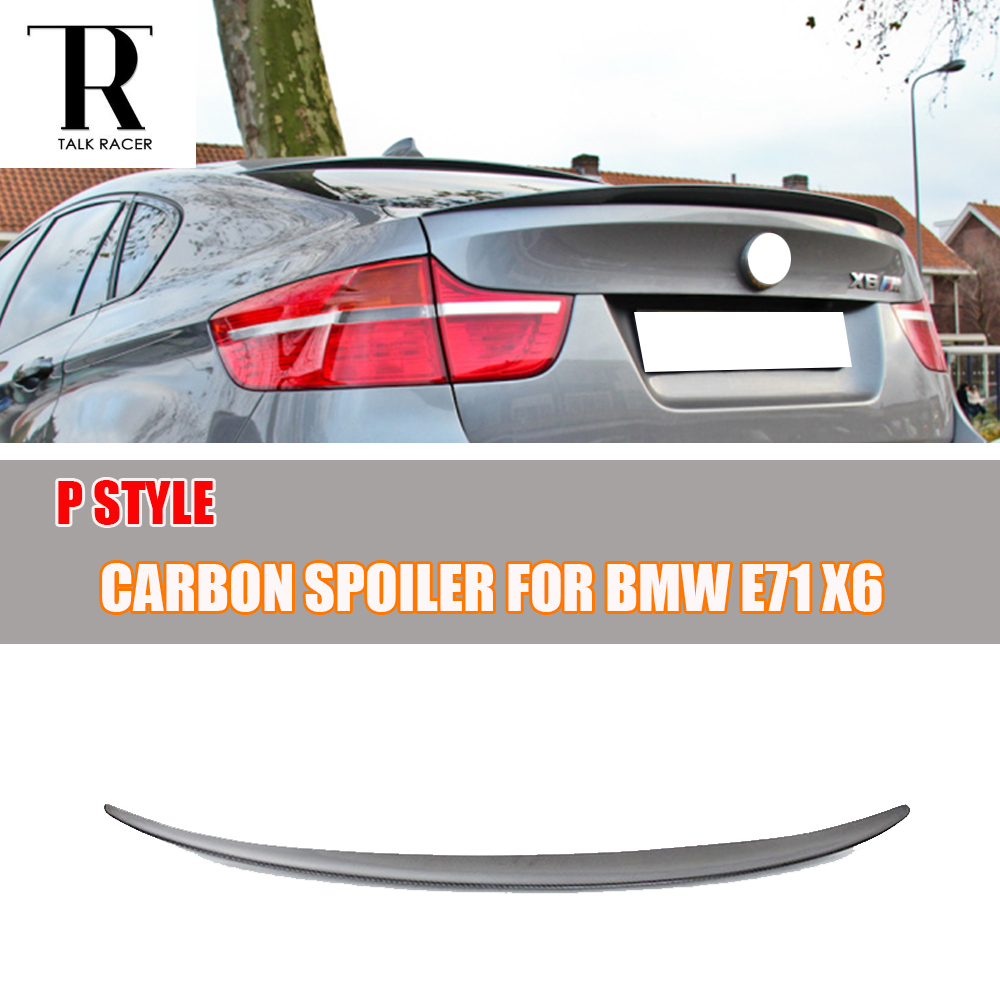 M Performance Style E71 X6 Carbon Fiber Rear Wing Spoiler for BMW E71 X6 2008 2009 2010 2011 2012 2013 for bmw x6 f16 spoiler carbon fiber material 2014 2015 2016 up x6 carbon spoiler m performance style carbon wings car styling