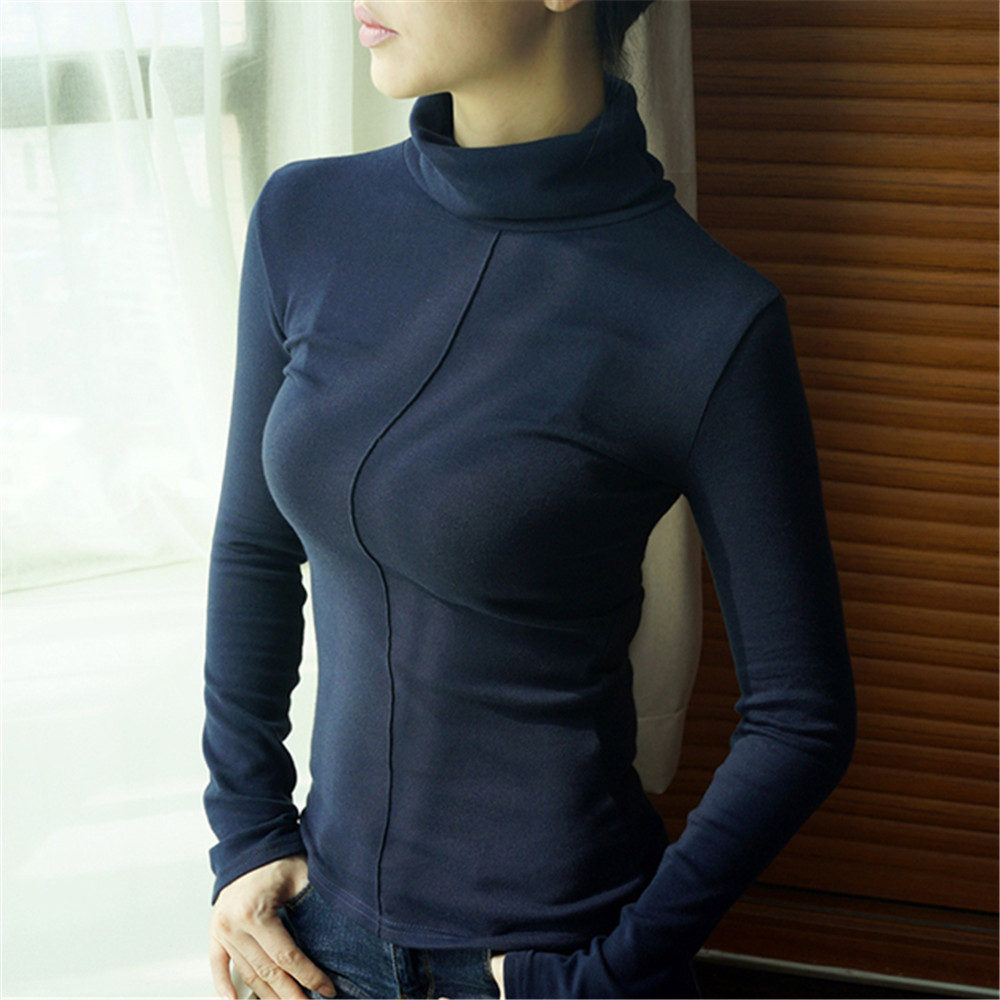 Sweater Female Soft Korean Style Skinny Winter Turtleneck Women Bodycon Basic Pullovers Long Sleeve Pull Femme Coat Female Top 3