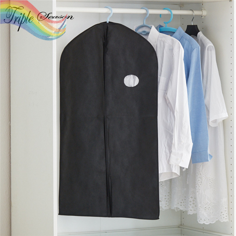 Home Clothing Dust Covers Clothes Suit Garment Men Coat Hanging Storage Bag  Closet Wardrobe Organizer Accessories Lot AB0598S In Clothing Covers From  Home ...