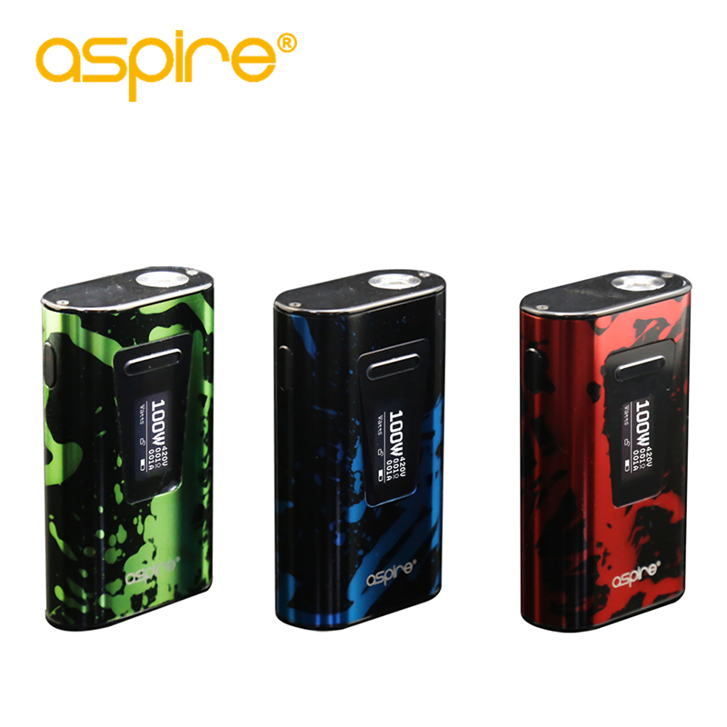 In Stock Electronic Cigarette Aspire Typhon 100W Box MOD With 5000mah Internal Battery Mod Fit Revvo Tank E Cigarette Vape Mod ty qt durable tank butt stock w  cotton