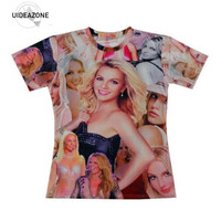 2015 New Women Men S 3d T Shirt Superstar Printed Kanye West Britney Spears T Shirt