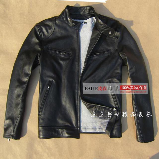 2017 New Hot Cheap Leather Jacket Men Genuine Leather Jacket Men
