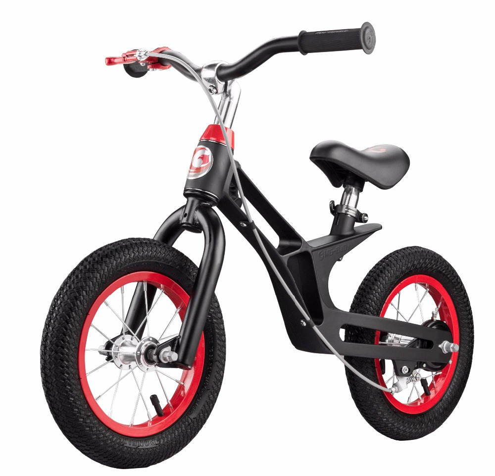 Balance Bike No Pedal Walking Bicycle with Carbon Steel Frame, Adjustable Handlebar and Seat, 110lbs 2 to 6 Years Old 12 inch balance bike ultralight pedal less balance bike steel kids balance bicycle for 2 6 years old children complete bike