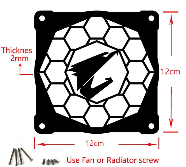12 sm pərəstişkarları üçün MOD DIY 12cm X 12cm Fan Cover - Kompüter hissələri - Fotoqrafiya 4