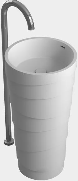 Badezimmer Corian Sockel Waschbecken Freistehend Festen Oberfläche Matt  Waschbecken Garderobe Eitelkeit Waschbecken Waschen RS38242(China