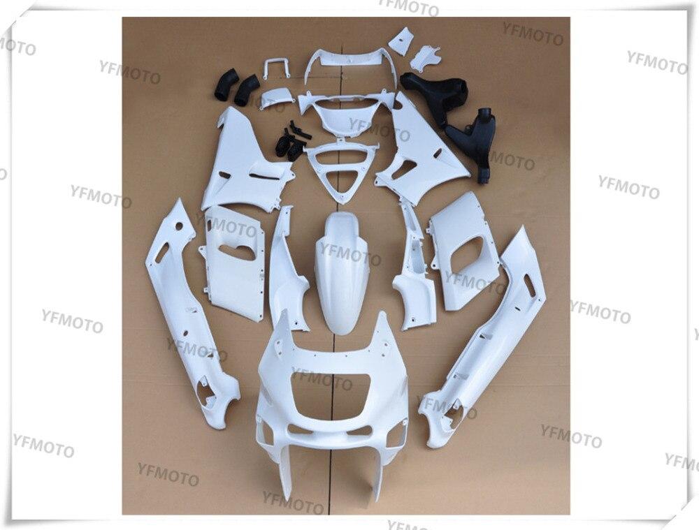 Мотоцикл Неокрашенный Белый Обтекатели Кузов комплект для KAWASAKI ZZR-400 ZZR 400 1993-2007 01 02 03 04 05 06 + 4 подарок
