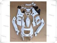 Motorcycle Unpainted White Fairings BodyWork Kit For KAWASAKI ZZR 400 ZZR 400 1993 2007 01 02