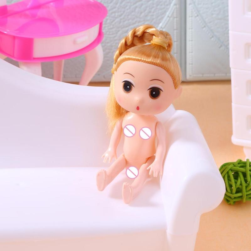 24CM Toy Doll Body Body Joints for Plastic Princess Solid Environment-Friendly Naked Body Baking Cake Doll Toy Kids Gift