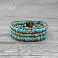 Fashion Charm Handmade Natural Emperor Stone Bracelet Bohemia Beaded Wrap For Women Accessories Jewelry Wholesale