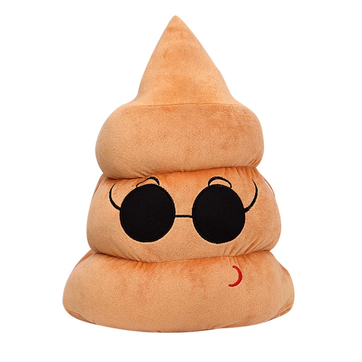Honig Mymf-mini Sofa Unisex Hause Stuhl Amüsant Plüsch Smiley Gesicht Emoji Kissen Puppe Spielzeug Poop Form Kissen Stofftiere & Plüsch