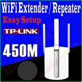 3 Антенны TP-LINK 450 Мбит Wi-Fi Беспроводной Extender AP Повторителя Booster Повышение Мобильный Wi-Fi Hotspot Wi-Fi усилитель сигнала Выпускного Вечера-