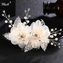 Miallo Charm Ivory White Silk flower Hair Comb for Brides Handmade Wedding Bridal Accessories hair comb Wedding Hair Jewelry-in Hair Jewelry from Jewelry & Accessories on Aliexpress.com | Alibaba Group