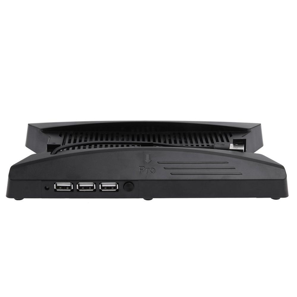Купить с кэшбэком PS4 Pro PS4 Slim Vertical Stand Cradle Base Cooling Fans Cooler USB HUB For Playstation 4 Pro Slim Console Accessories Display