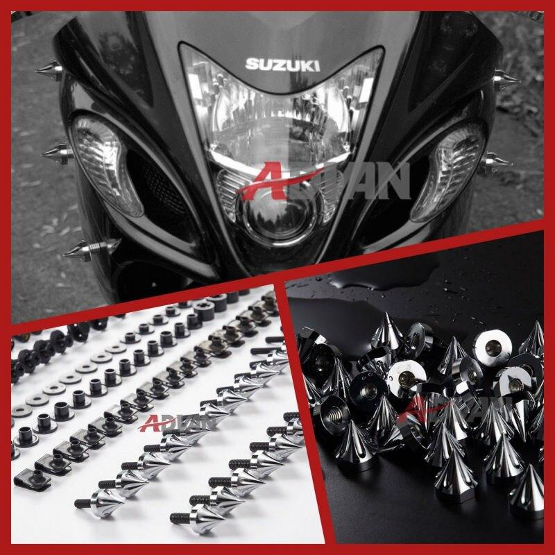 Дополнительно:красный,зеленый,оранжевый,синий,черный,серебро,хром)Спайк обтекатель комплект болтов крепеж винты комплект подходит для Suzuki TL1000R 1998-2003