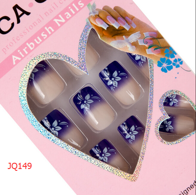 False Nails French Tips Fake Nep Nagels For Art Design Nail Faux Ongles Y Full Cover Free Glue 24pcs In From Beauty