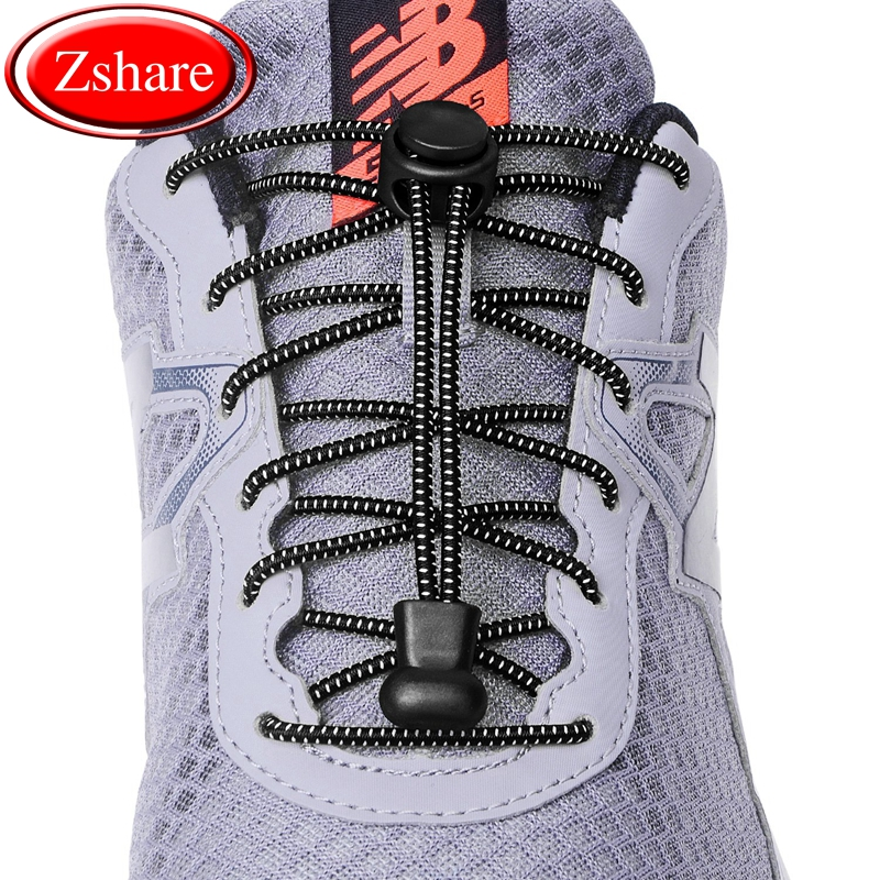 1Pair 23 Colors Sneaker ShoeLaces Elastic No Tie Shoe Laces Stretching Lock Lazy Laces Quick Rubber Shoelace Shoestrings