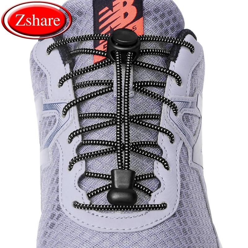 1Pair 23 colors Sneaker ShoeLaces Elastic No Tie Shoe Laces Stretching Lock Lazy laces Quick Rubber Shoelace Shoestrings