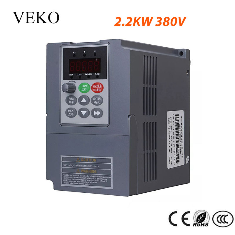 2 2KW 380V 3 Phase Input VFD Frequency Inverter 3 Phase Triphase Output Motor Speed Control