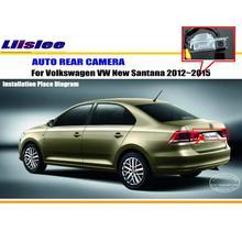 Car Rear View Camera / Back Up Reverse Parking Camera For VW Santana 2012~2015 License Plate Lamp / HD CCD Night Vision