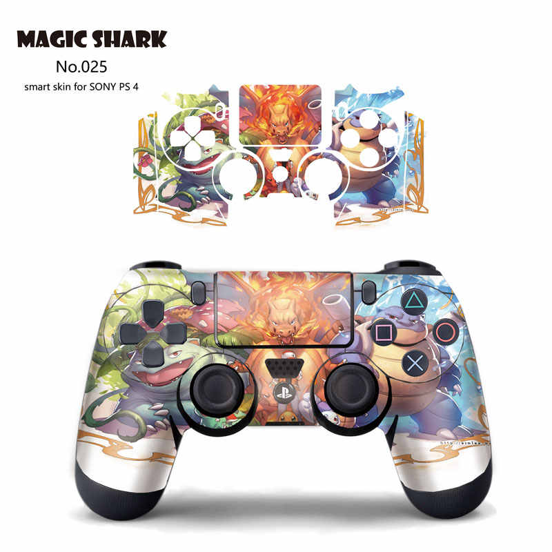 Magic Hiu Pokemon Final Fantasy Ultra Tipis Stiker untuk PS4 Nirkabel Controller Protective Cover untuk PlayStation 4 021-027