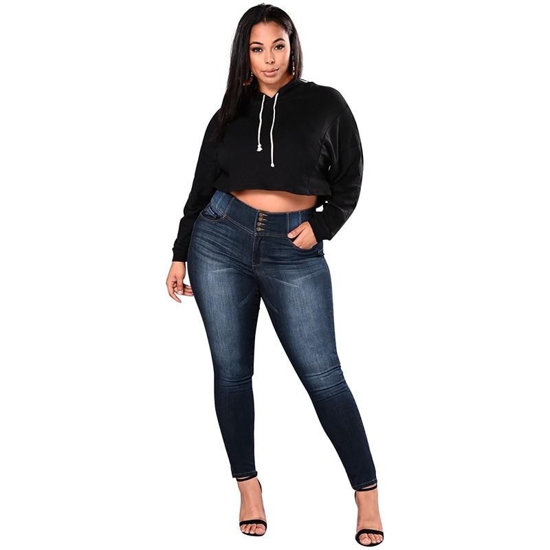 Pantalón Cintura Nuevas Señora Slim Oscuro Jeans Mujeres Azul Para Denim Las Más Moda Bodycon Pantalones Alta Ripped Tamaño Skinny fURfnq