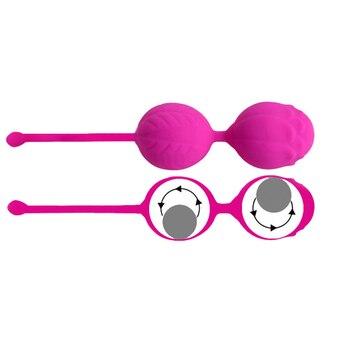 Kegel Balls Silicone Vaginal Tight Exercise Vagina Orgasms Massage Product Vibrators Sex Toy For Women Postpartum Recovery Hot Vagina Balls