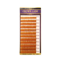 CrownLash Light Golden Brown C 0 10 7 15mm 3D Volume Lash Extension