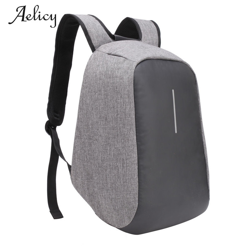 Aelicy USB Charge Anti Theft Backpack Men Travel Security Waterproof School Bags College ...