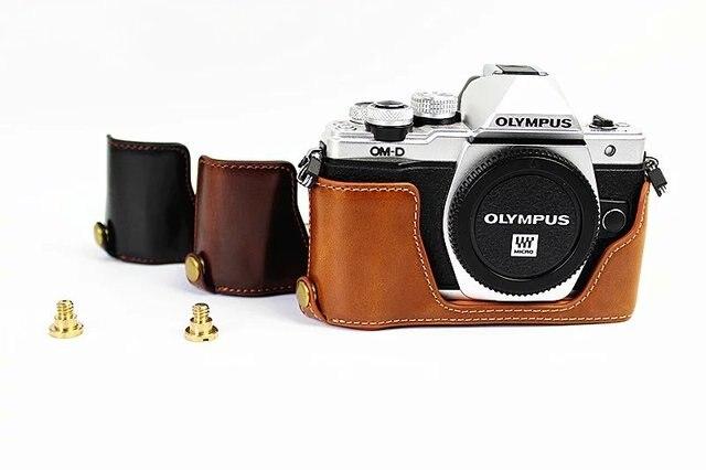 dfa91715b8ae9 Nowy Połowa Ciała Zestaw Pokrywa Torba Na Aparat Fotograficzny Case dla  Olympus E-M10 Mark
