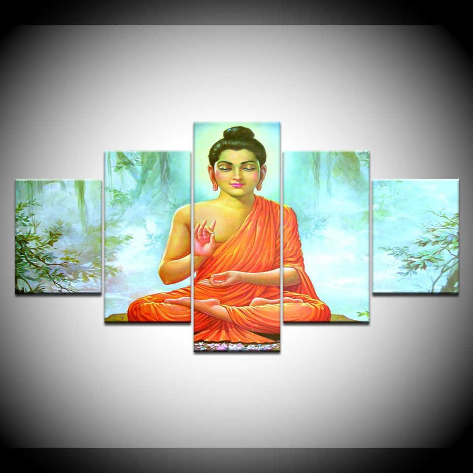HD Print 10pcs Canvas Wall Art Shiva India Lord Religion Buddha ...