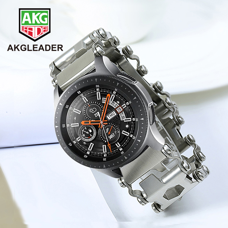 Bracelet de montre en métal pour Samsung Galaxy montre 46mm Gear S3 Bracelet pour Garmin Fenix 3 HR 5X Bracelet de montre en acier tournevis outil bande