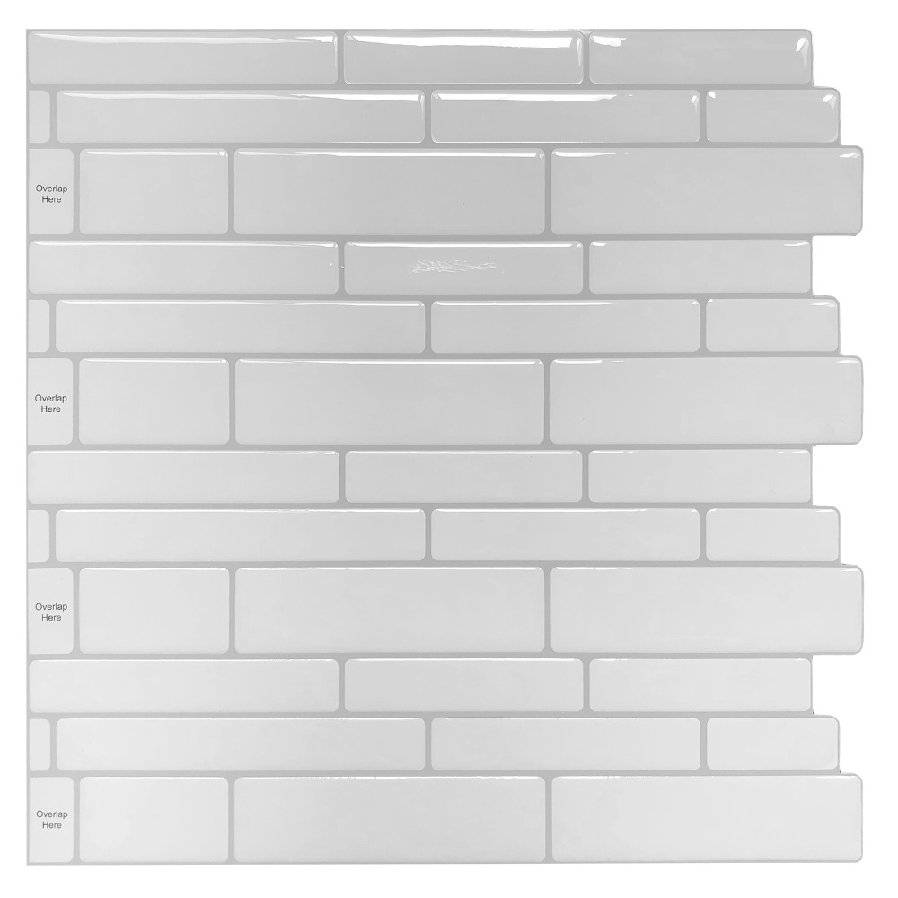 "(10 Sheets) 11.6"" White Subway Peel And Stick Tile For"