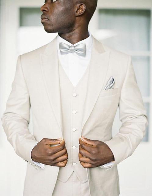 Fashion Peak Lapel Cultivated Wedding Tuxedo for Groom Sliver ...
