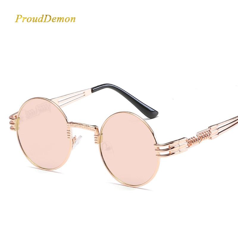 Gothic Steampunk Sunglasses Wanita Pria Logam Bungkus Kacamata - Aksesori pakaian - Foto 5