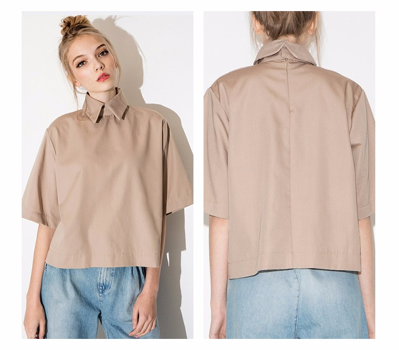HTB1Ey8TLpXXXXbTXpXXq6xXFXXXW - Style shirt fashion turn down collar blouse slim women shirt