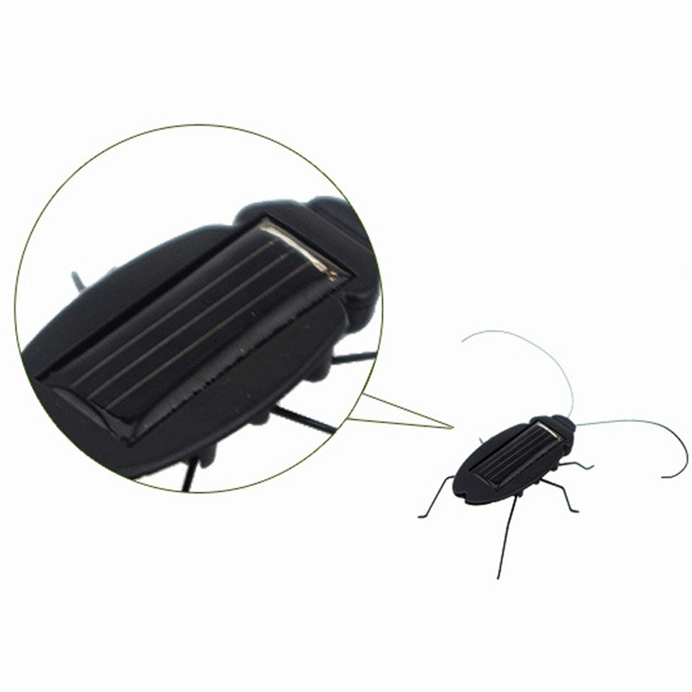 Hot Selling Solar Power Energy Cockroach Fun Gadget Kids Children Toy Gift Teaching Fun Gadget Insect Bug Educational Toy