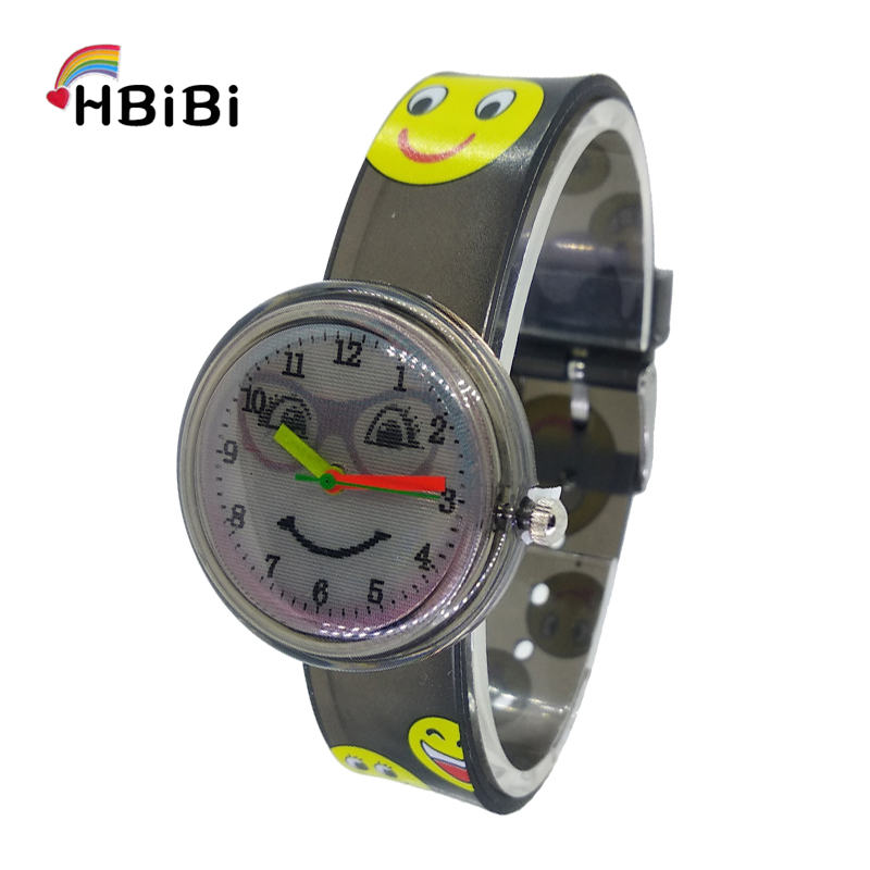 Multi-pattern Smiley Face Dial Girls Boys Quartz Watch Children Creative Eyes Smile Kids Watches For Student Clock Dropshipping
