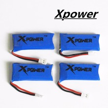 4pcs H107 Xpower 3.7V 500mAh LiPo Battery Hubsan H107 h107c JXD385 YD928 U816 rc Wltoys Walkera Quadcopter