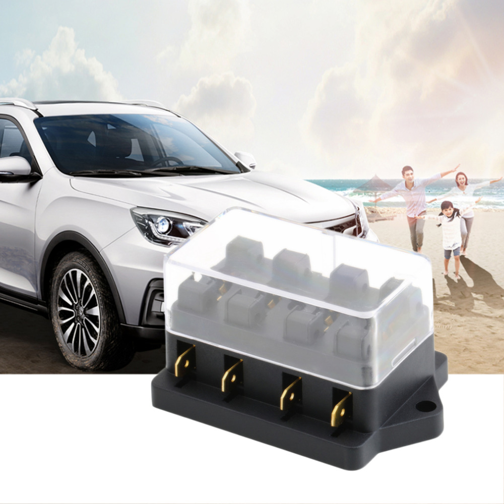 Brand New 4 Way Fuse Box DC 12V 24V Max DC 32V Circuit Car Trailer Auto brand new 4 way fuse box dc 12v 24v max dc 32v circuit car trailer Universal Fuse Box at fashall.co