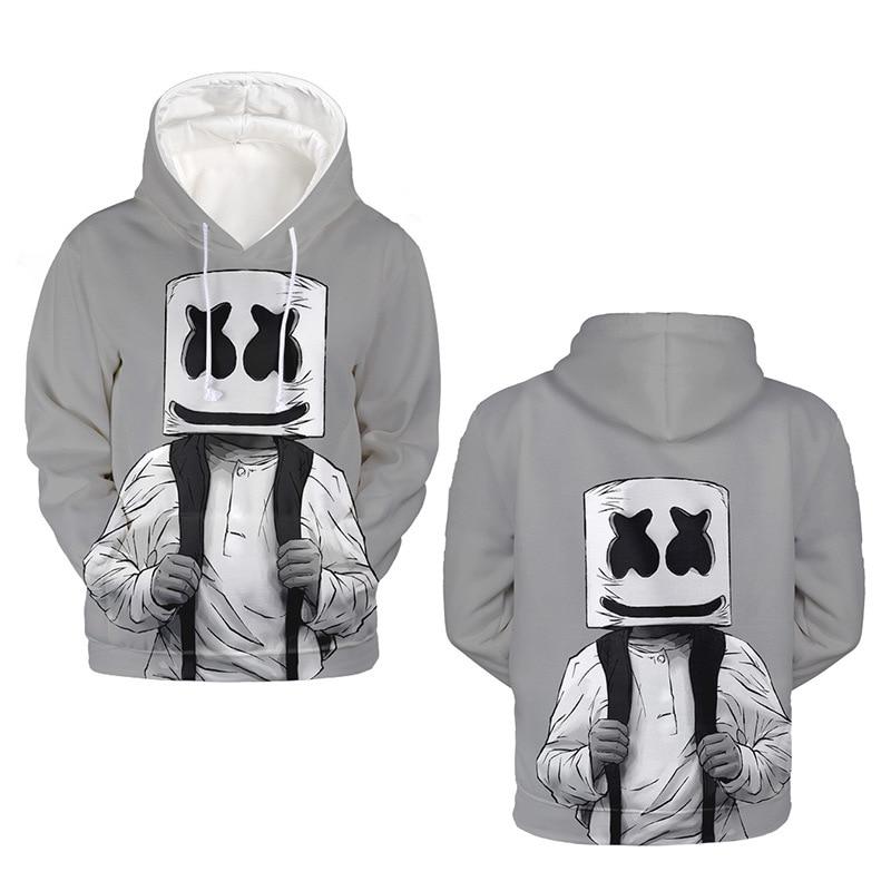 DJ Marshmello hoodies 3D Print Women Men Hip Hop Hoodies Sweatshirts Casual Harajuku top Tracksuit Pullover drop ship