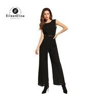 Black Jumpsuit Pants 2017 New Summer Fashion Rompers Women Jumpsuits