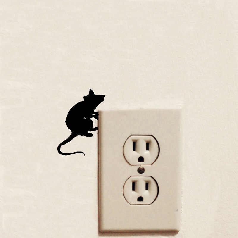 حية الجرذ الفأر نمط بارد التبديل ملصقا مجنون التصميم الشارات للإزالة المنزل الديكور جدار ملصقا 2WS0400