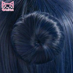 Image 3 - 【AniHut】Tsushima Yoshiko Wig Love Live Sunshine Cosplay Wig Blue Synthetic Hair LoveLive Sunshine Cosplay Tsushima Yoshiko