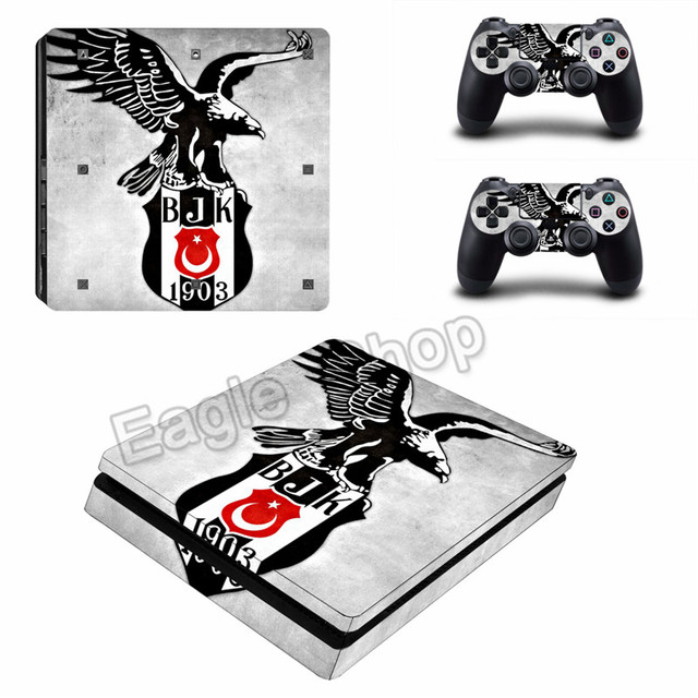 For ps4 slim skin sticker turkiye football team sticker besiktas j k for playstation 4 slim vinyl