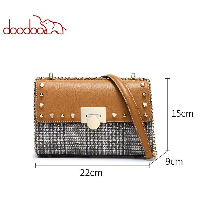 a3541ff5d13 Kopen Goedkoop DOODOO Merk Mode Vrouwen Tas Vrouwelijke Schouder Crossbody Tassen  Dames Kunstleer Keten Klinknagel Kleine 2 Kleuren Messenger Bag Prijs.