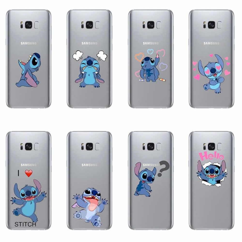 Funny Stitch Case For Coque Samsung Galaxy A5 A7 A6 A8 S6 S7 S8 S9 ...