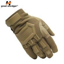 Сенсорный экран тактические перчатки мужские армейские спортивные военные спецназ полный палец перчатки противоскользящие мотоциклетные велосипедные спортивные перчатки