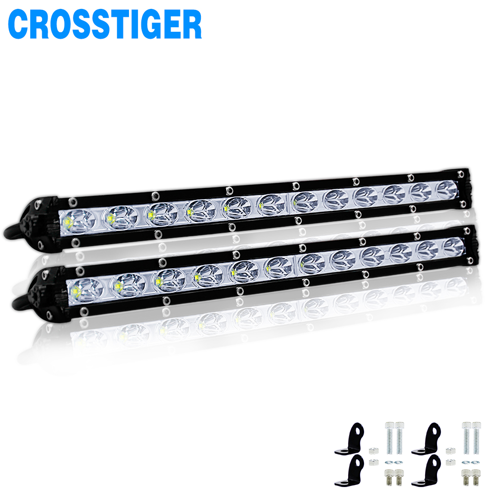13 inch 6000Lm 36W Car Led Light Barra Bar Work Fog lights Offroad Motorcycle Spotlight For Boats Jeep Truck Street Lamp SUV atv-in Light Bar/Work Light from Automobiles & Motorcycles