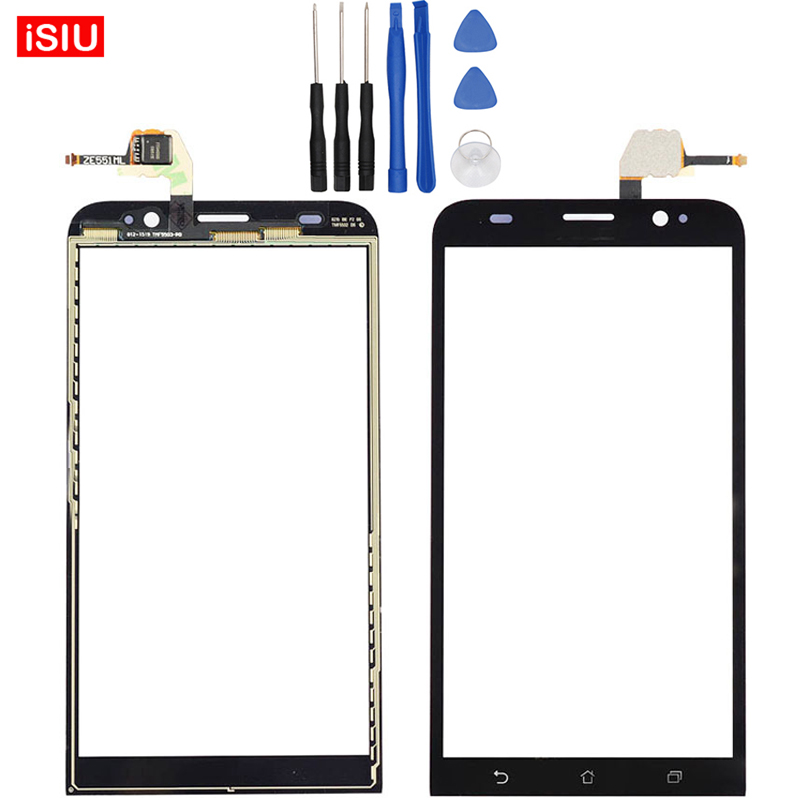 New 5.5 inch For ASUS ZenFone 2 ZE551ML LCD ZenFone2 Touch Screen Lens Glass Outer Front Panel + Tools