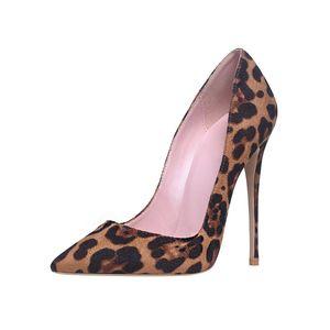 Image 3 - Genshuoハイヒールの靴女性パンプスフロックヒョウ柄セクシーなハイヒール10 12センチメートルパーティーハイヒールデザイナーの靴のサイズ11 12